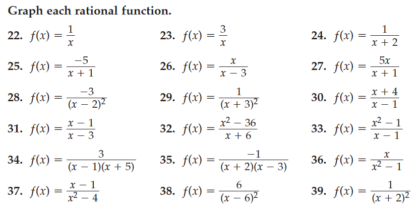 Honors Math 3 Mrs DurhamGo Mustangs – Rational Functions Worksheet